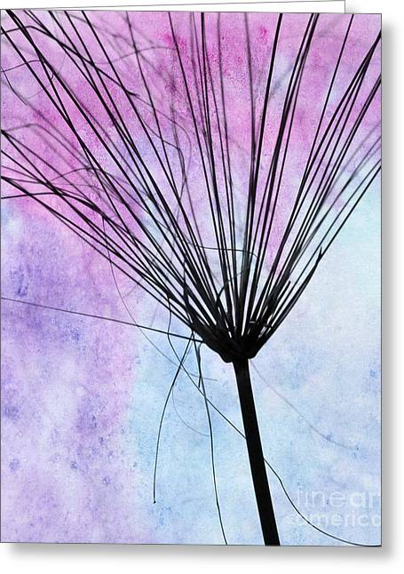 Weedy Greeting Cards - Artsy Abstract Silhouette Greeting Card by Sabrina L Ryan