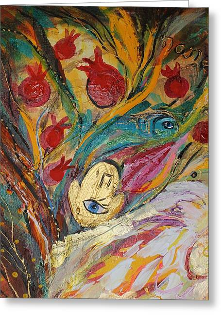 Auction Greeting Cards - Artwork Fragment 18 Greeting Card by Elena Kotliarker