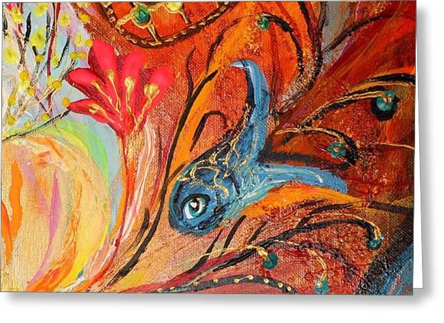 Artwork Fragment 19 Greeting Card by Elena Kotliarker