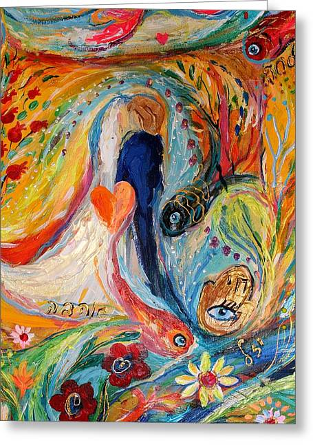 Auction Greeting Cards - Artwork Fragment 23 Greeting Card by Elena Kotliarker