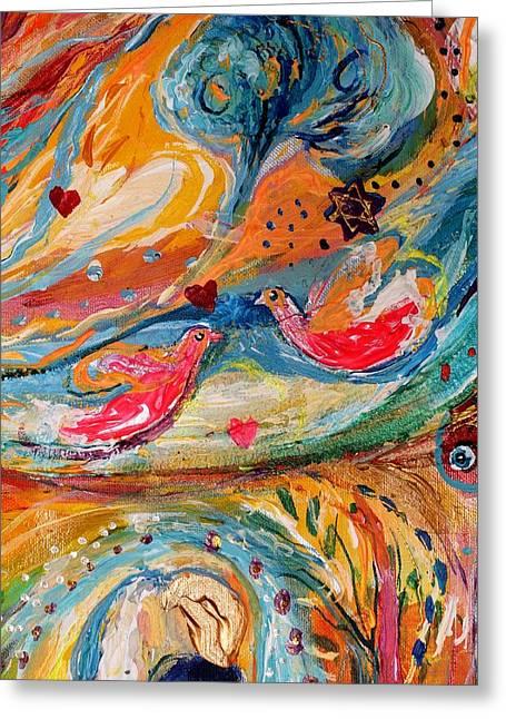 Auction Greeting Cards - Artwork Fragment 24 Greeting Card by Elena Kotliarker