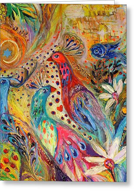 Print On Canvas Greeting Cards - Artwork Fragment 34 Greeting Card by Elena Kotliarker