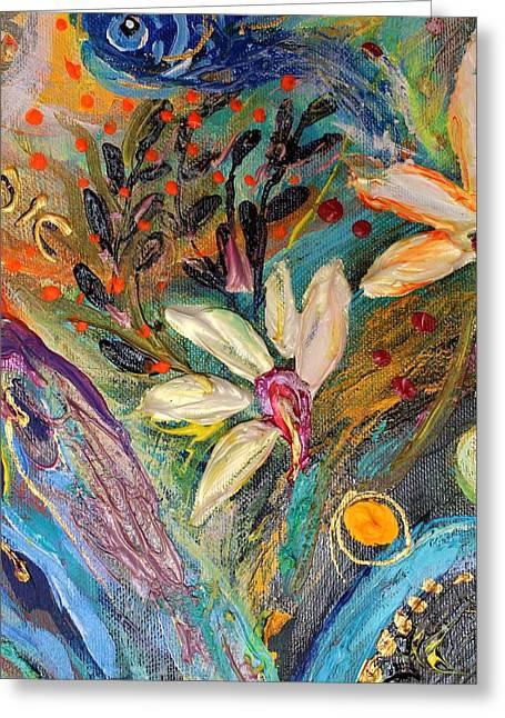 Auction Greeting Cards - Artwork Fragment 35 Greeting Card by Elena Kotliarker