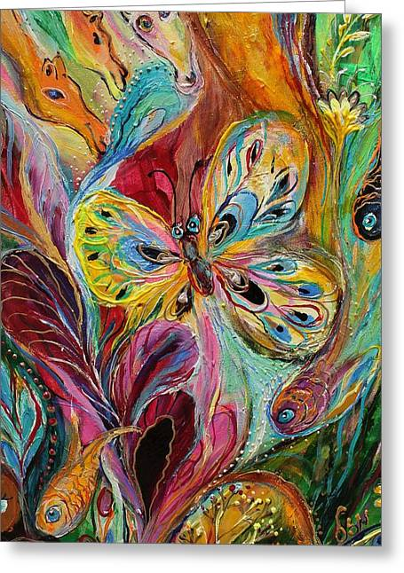 Art Prints Wholesale Greeting Cards - Artwork Fragment 47 Greeting Card by Elena Kotliarker