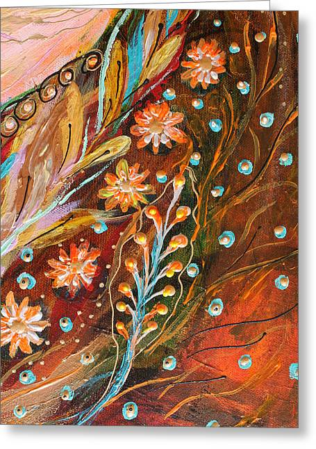 Art Prints Wholesale Greeting Cards - Artwork Fragment 49 Greeting Card by Elena Kotliarker