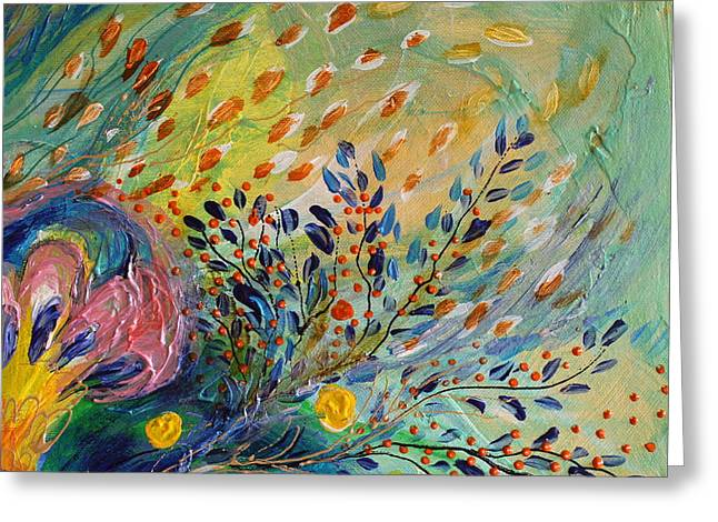 Art Prints Wholesale Greeting Cards - Artwork Fragment 71 Greeting Card by Elena Kotliarker