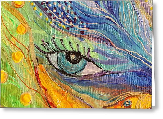 Artwork Fragment 77 Greeting Card by Elena Kotliarker