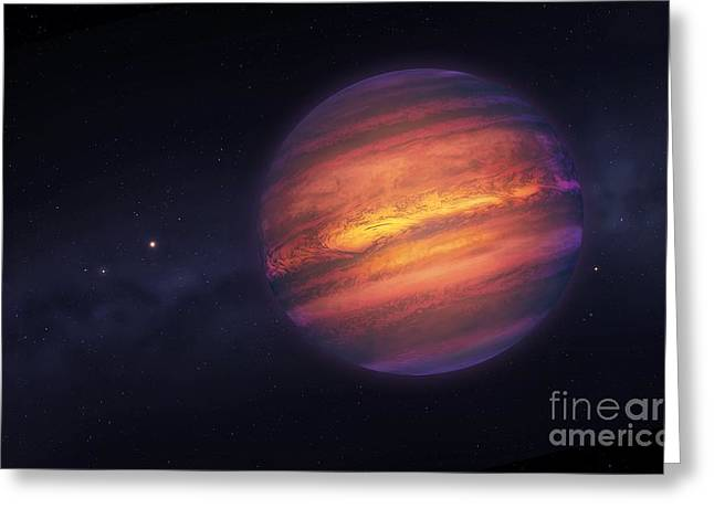 Helium Greeting Cards - Artwork Of A Brown Dwarf Greeting Card by Mark Garlick