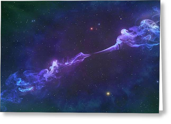 Artwork Of A Herbig-haro Object Greeting Card by Mark Garlick