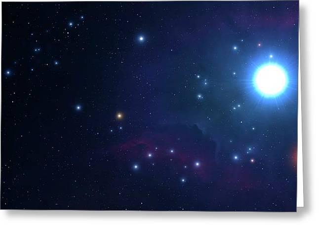Artwork Of An Open Cluster Of Stars Greeting Card by Mark Garlick