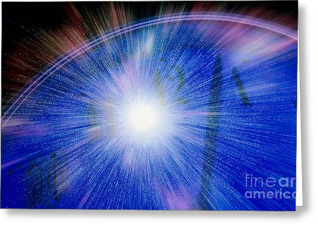 Warp Greeting Cards - Artwork Of Time-compression Greeting Card by Erich Schrempp
