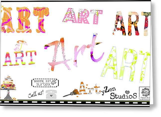 Surface Design Greeting Cards - ArtyZen Studios at Surtex 2014 - Booth 327 Greeting Card by ArtyZen Studios