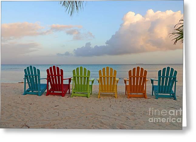 Aruba Greeting Cards - Aruba Sunrise 0746a Greeting Card by Jack Schultz