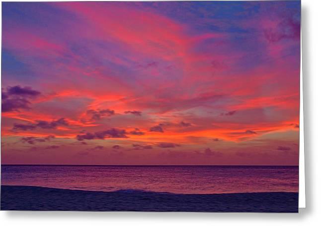 Aruba Sunset Greeting Card by Jemmy Archer