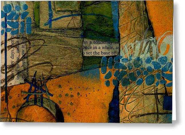 Abstract Collage Greeting Cards - As a Tendency  Greeting Card by Laura  Lein-Svencner