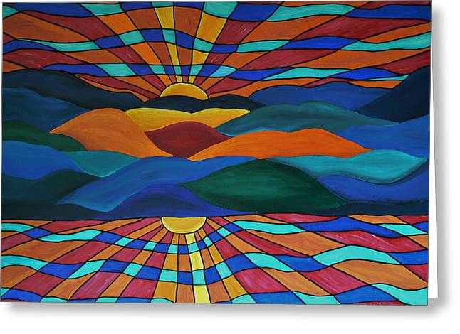 Saint Jean Art Gallery Greeting Cards - As Above So Below Greeting Card by Barbara St Jean
