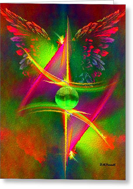 Fractal Orbs Greeting Cards - As Above So Below Greeting Card by Diane Parnell