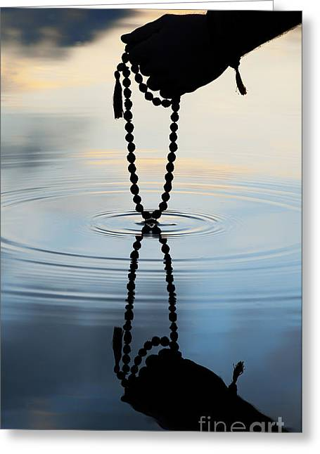 Praying Hands Greeting Cards - As Above So Below Greeting Card by Tim Gainey