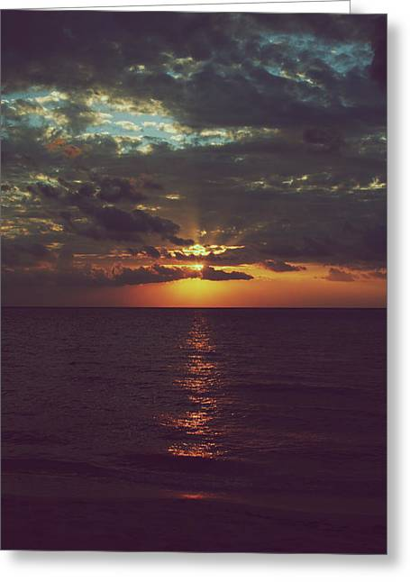 Cozumel Greeting Cards - As Day Turns into Night Greeting Card by Laurie Search