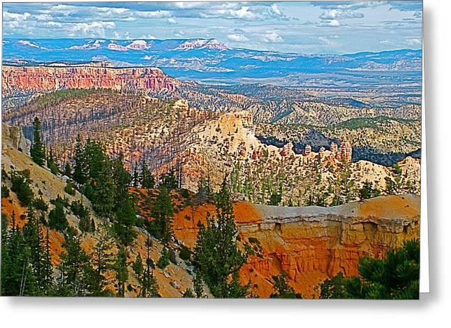 As Far As The Eye Can See Greeting Cards - As Far as the Eye Can See from Farview Point in Bryce Canyon-Utah   Greeting Card by Ruth Hager