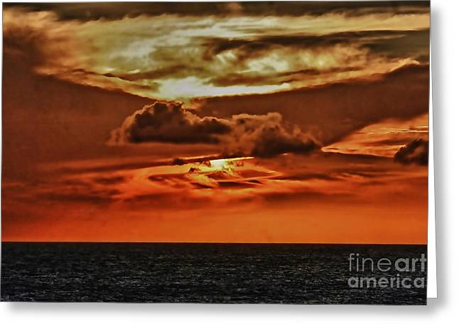 Ocean Scenes Digital Art Greeting Cards - As far as the eye can see Greeting Card by Tom Prendergast