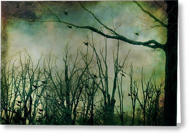 Approach Digital Art Greeting Cards - As Night Approaches  Greeting Card by Gothicolors Donna Snyder
