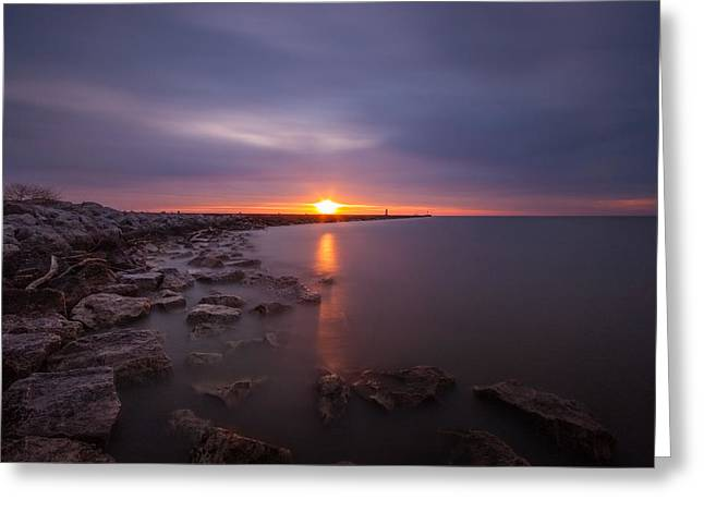 Breakwater Greeting Cards - As The Light Shines Upon Us Greeting Card by Daniel Chen