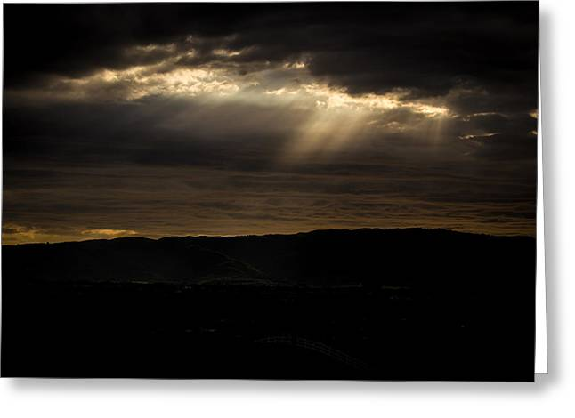Gilroy Greeting Cards - As the Storm Rolls Over Greeting Card by Tony Noto