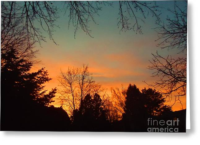 As The Sun Goes Down Greeting Card by Ann Johndro-Collins