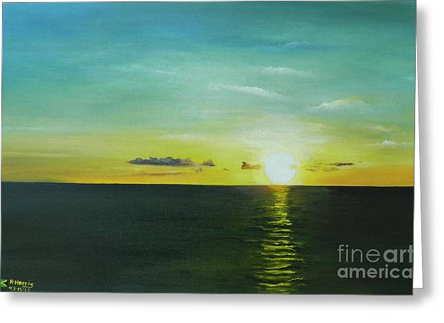 Jamaican Sunset Greeting Cards - As the Sun Goes Down Greeting Card by Kenneth Harris