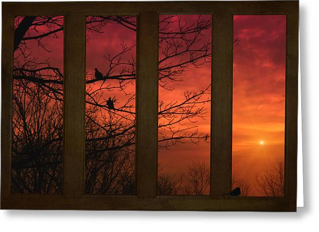 Sundown Framed Prints Greeting Cards - As The Sun Goes Down Greeting Card by Tom York Images