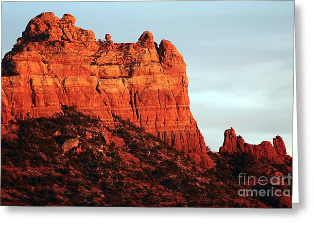 Northern Arizona Greeting Cards - As the Sun Sets in Sedona Greeting Card by John Rizzuto