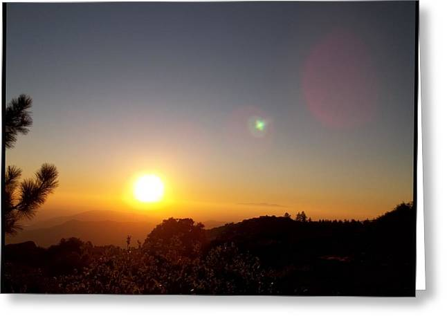 Idyllwild Greeting Cards - As The Sun Sets In The West Greeting Card by Glenn McCarthy Art and Photography