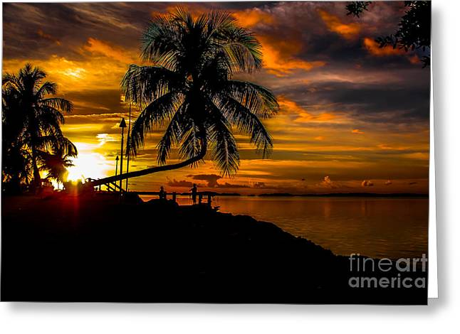 Isla Morada Greeting Cards - As the Sunsets Greeting Card by Rene Triay Photography
