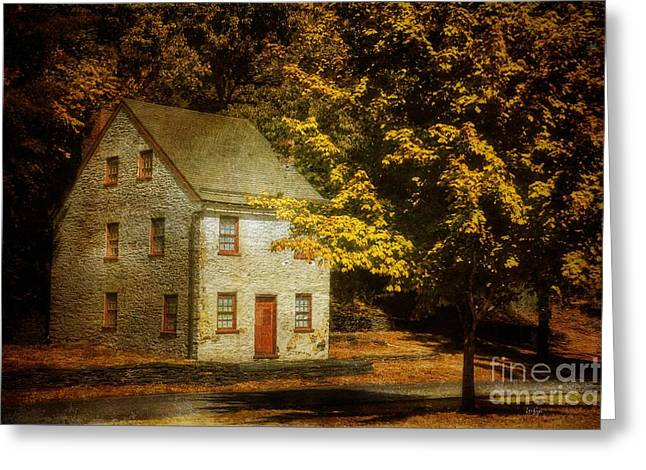 Old Houses Greeting Cards - As The World Passes By Greeting Card by Lois Bryan