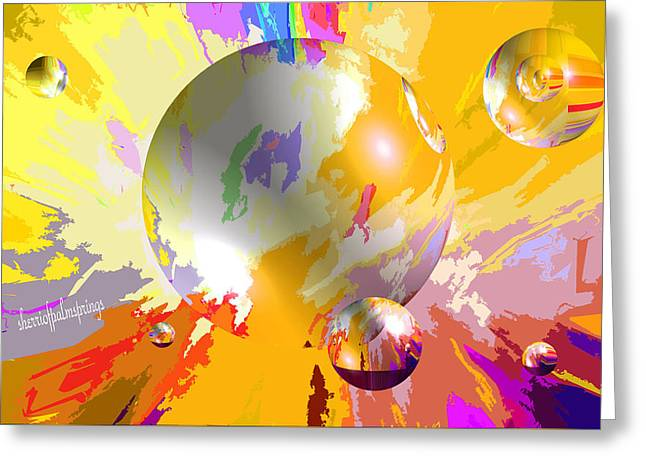 Digital Art Greeting Cards - As The World Turns With Peace Greeting Card by Sherri  Of Palm Springs