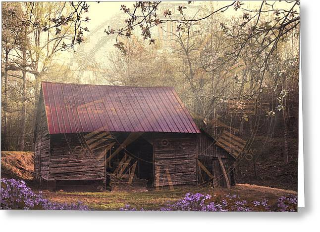 Tennessee Farm Greeting Cards - As Time Goes By Greeting Card by Debra and Dave Vanderlaan