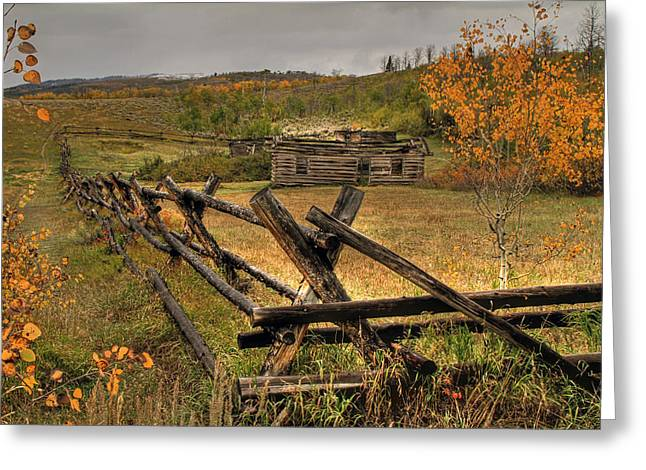 Log Cabins Greeting Cards - As Time Goes By Greeting Card by Donna Kennedy