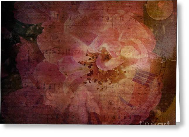 As Time Goes By Greeting Card by Lianne Schneider