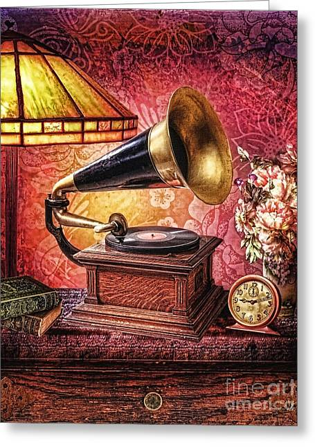 Music Time Greeting Cards - As Time Goes By Greeting Card by Mo T