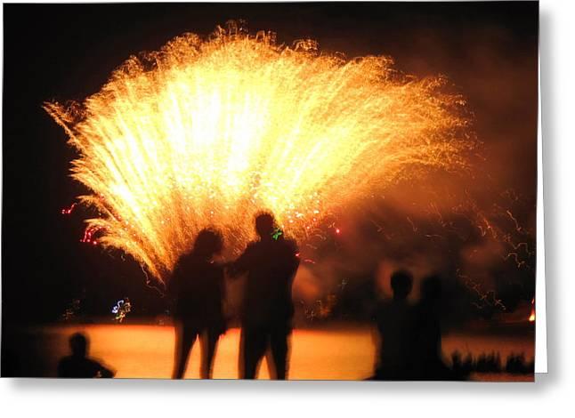 Feuerwerk Greeting Cards - As we sparkle Greeting Card by San Con