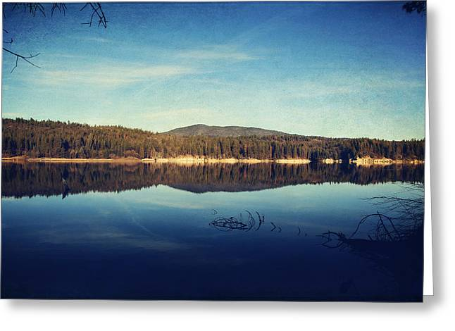 Lakes Digital Greeting Cards - As You Call Out to Me Greeting Card by Laurie Search