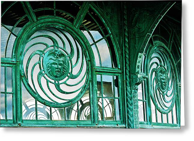 Medusa Window Greeting Cards - Asbury carousel house Greeting Card by William Walker