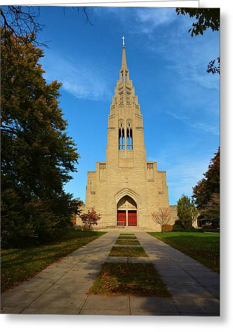 Christain Cross Greeting Cards - Asbury First United Methodist Church Greeting Card by Richard Jenkins