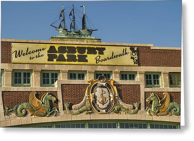 Convention Greeting Cards - Asbury Park Boardwalk Greeting Card by Susan Candelario