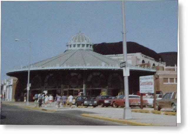 Asbury Park Carousel Greeting Cards - Asbury Park Carousel Greeting Card by Joann Renner