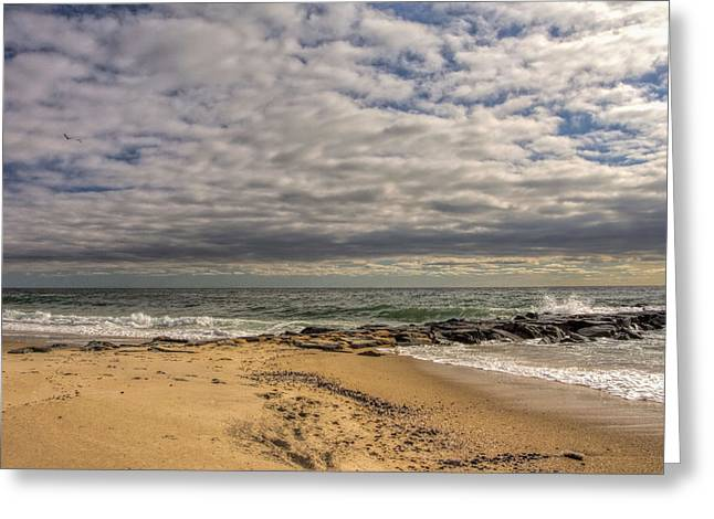 Ocean Art Photography Greeting Cards - Asbury Park New Jersey seascape Greeting Card by Geraldine Scull