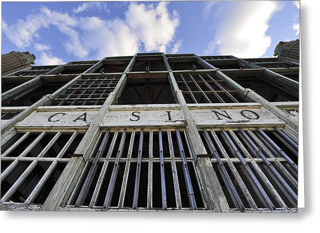 Asbury Park Casino Greeting Cards - Asbury Park NJ Casino Color Greeting Card by Terry DeLuco