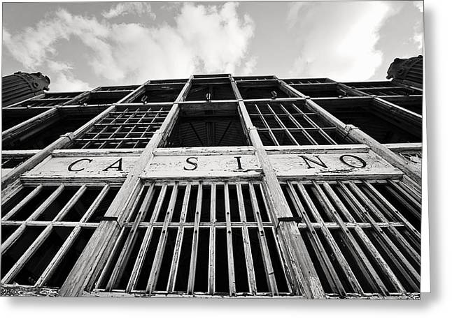 Historical Buildings Greeting Cards - Asbury Park NJ Casino  Greeting Card by Terry DeLuco