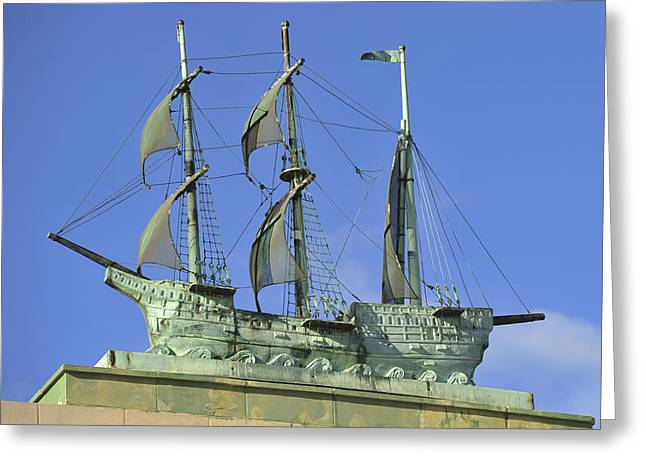 Asbury Park Jersey Shore Architecture Greeting Cards - Asbury Park NJ Convention Hall Ship  Greeting Card by Terry DeLuco